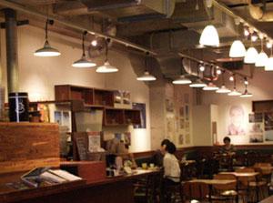 関西twitterサミット会場となったスタンダードブックストアのカフェ