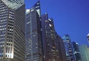 上海の金融街、浦東の夜景