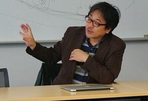 青学BBラボで講演するジャーナリストの北丸氏